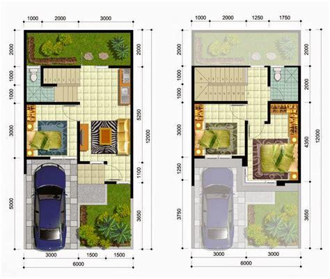 denah rumah  lantai ukuran kecil