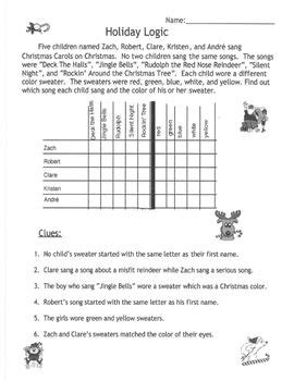activities logic puzzle for gifted and talented