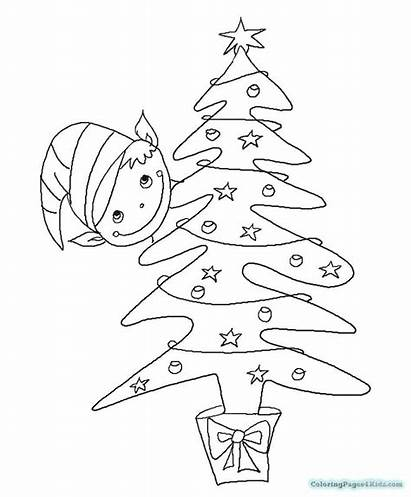 Elf Shelf Coloring Pages