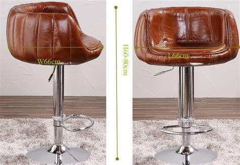 chaise 3 en 1 aéronautique millésime véritable en cuir tabouret de bar