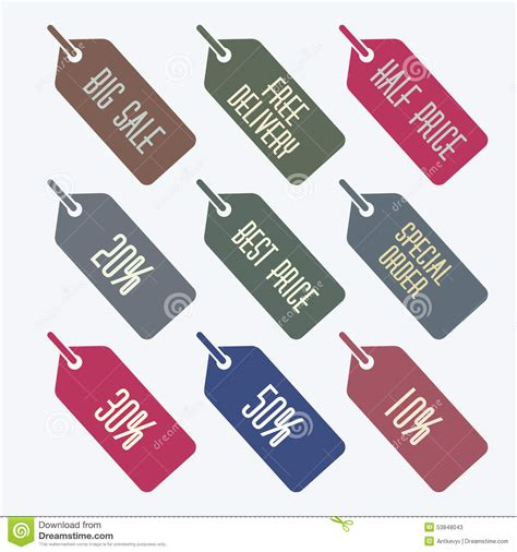 Sale Tags Set Stock Vector  Image 53848043