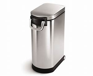 Simplehuman extra large stainless steel pet food can for Extra large dog food container