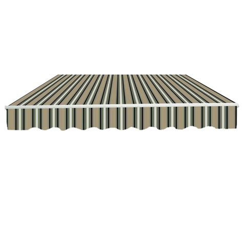 patio diy manual awning garden canopy sun shade retractable shelter top fabric ebay