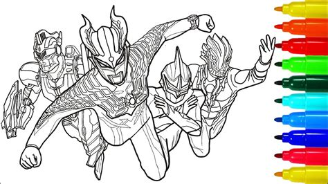 Coloring Ultraman Pictures by Ultraman Zero Coloring Pages Pagebd