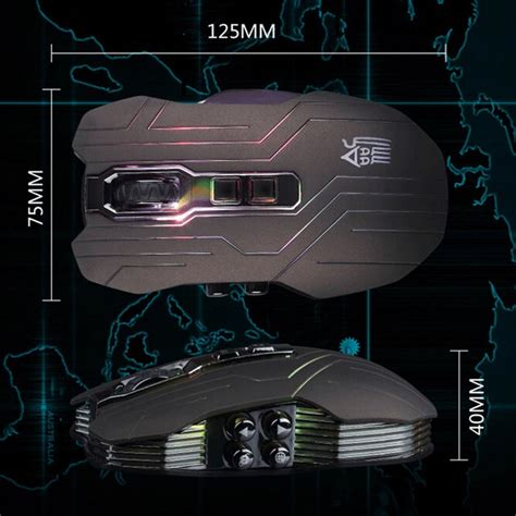 ghost shark aokdis led optical wireless gaming mouse 9d 4000dpi ghost shark aokdis led optical wireless gaming mouse 9d