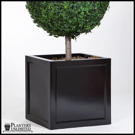 Square Outdoor Planters by Ashville Square Planter Outdoor Flower Planters