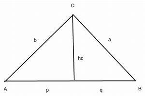 Rechtwinkliges Dreieck Berechnen Nur Eine Seite Gegeben : dreieck dreieck berechnen wenn nur hc p und q gegeben ist mathelounge ~ Themetempest.com Abrechnung