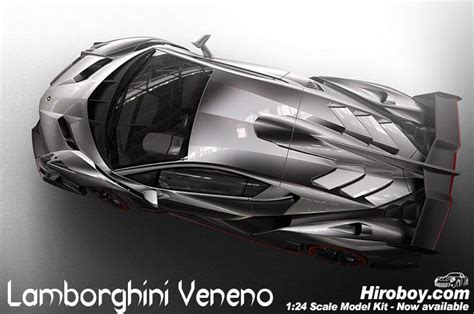 24 Lamborghini Veneno Model Kit C/w Engine Detail