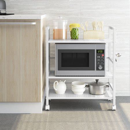 langria  tier kitchen microwave oven rack shelving unit