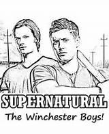 Supernatural Winchester Coloring Boys Adults Malvorlagen Sam Dean Sheets Kinder übernatürlich Ausmalen Schöne Ausdrucken Zum Holz Färbung Vorlagen Malbuch Erwachsene sketch template