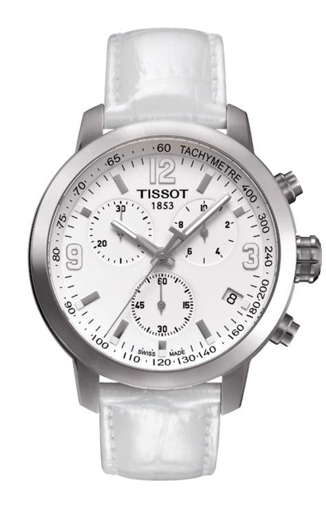 Tissot Prc 200 Chrono Leather Brw t055 417 16 017 00 tissot prc 200 mens quartz chrono white