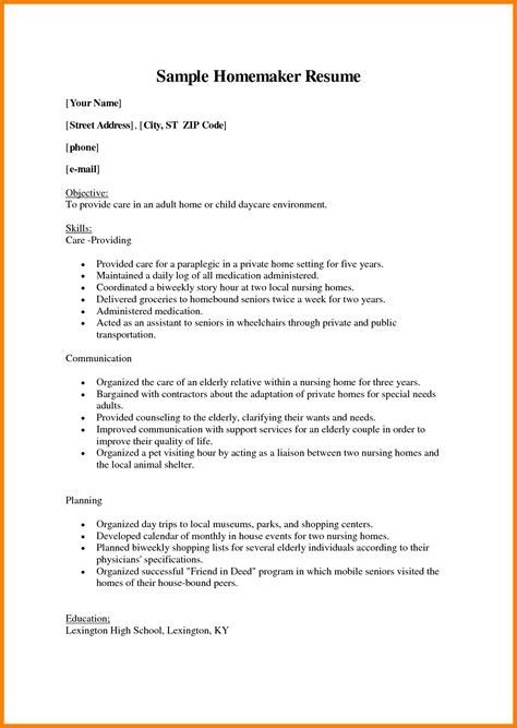 resume help for homemakers how to list homemaker on resume resume ideas