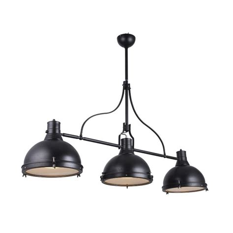 choisir un canapé suspension lumière lampa style industriel noir avec 3