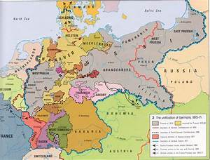 Map Of Germany Before Unification