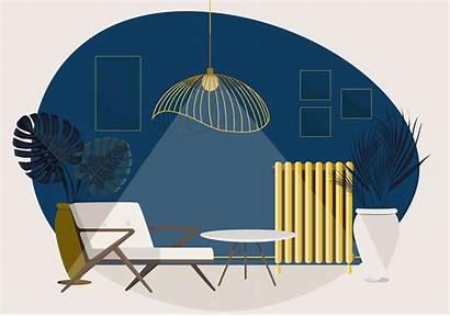 Vector Lounge Illustration Living Interior Clipart Vectors