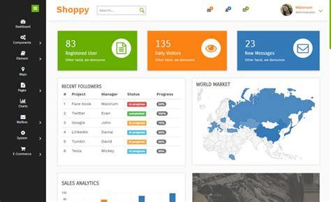 Shoppy-free Html5 Admin Panel Template