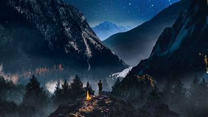 Sky Camping Mountains Night Starry Wallpapers 1080p