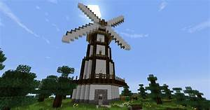 windmill with farm Minecraft Project
