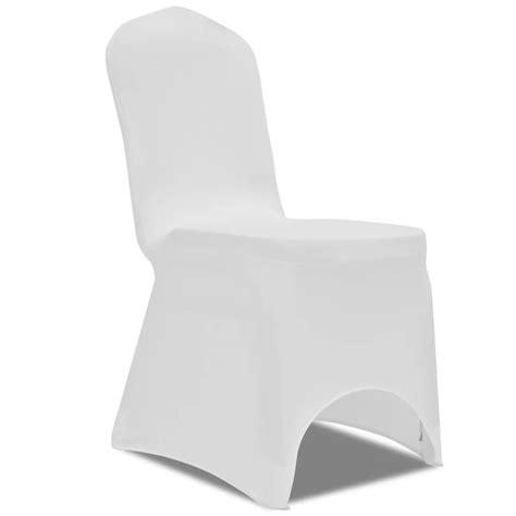 housse de chaise blanche mariage la boutique en ligne housse blanche extensible pour chaise 6 pièces vidaxl fr