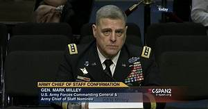 Army Chief Staff Nominee General Mark Milley Confirmation ...