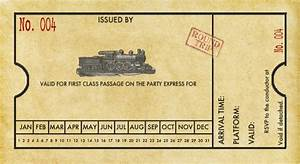Spaghetti westerner free printables modern diy train for Train ticket template word
