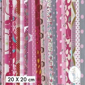 Tissu Exterieur Pas Cher : lot coupons tissu pas cher rose 30x30 cm ~ Dailycaller-alerts.com Idées de Décoration