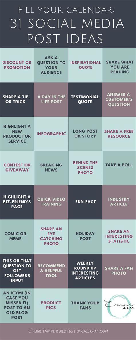 social media calendar ideas task list templates