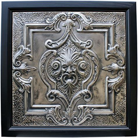 large metal framed tin ceiling tile wall wind