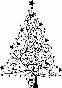 Christmas Tree Silhouette Clip Art – Cliparts