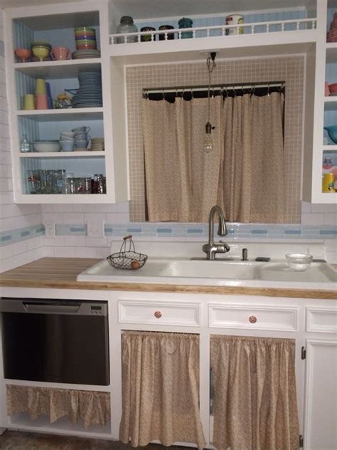 wood valance kitchen sink sink dishwasher and window curtains for my 1955