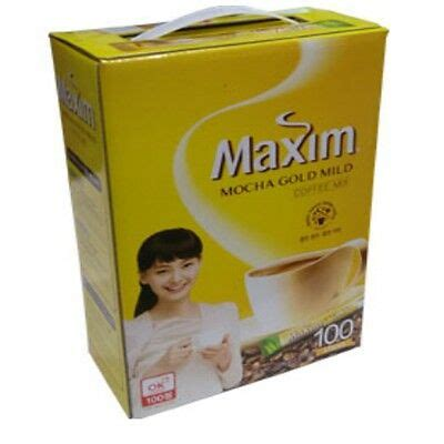 Today i´m here with a new delicious post for you, and this time is about a korean product exactly about a korean coffee or instant coffe. MAXIM MOCHA GOLD Mild Korean Instant Coffee Mix 100 Sticks ...