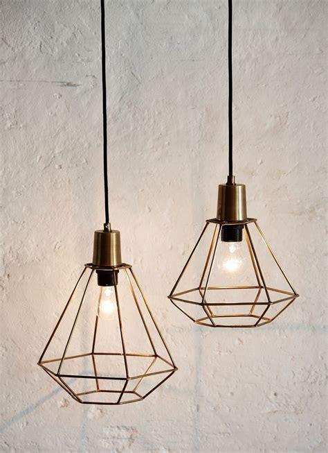 skon diamant messing lampe fra huebsch brondum interior indretning og mobler bedroom