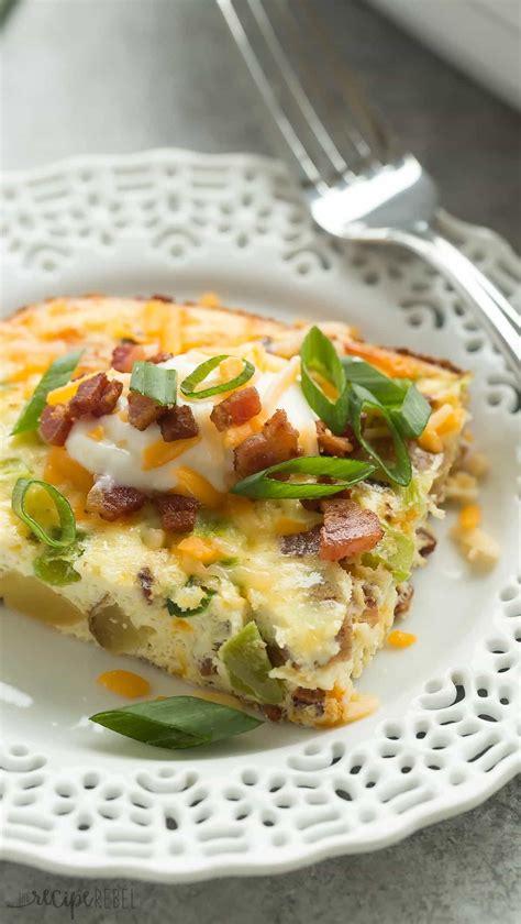 loaded baked potato breakfast casserole recipe