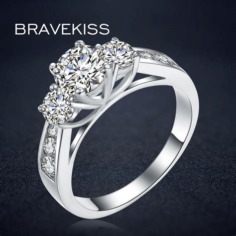 bravekiss crystal wedding rings for women engagement ring bands cubic zirconia finger ring
