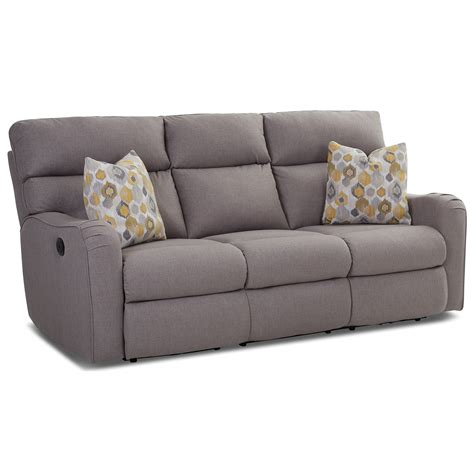 Reclining Sofa With Throw Pillows By Klaussner Wolf And