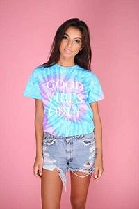 Light Purple Long Sleeve Good Vibes Only Purple And Blue Tie Dye Graphic Unisex Tee