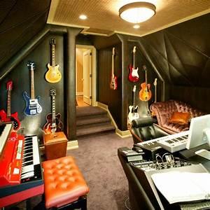 Salas de música e estúdios caseiros, 23 ideias para você ...
