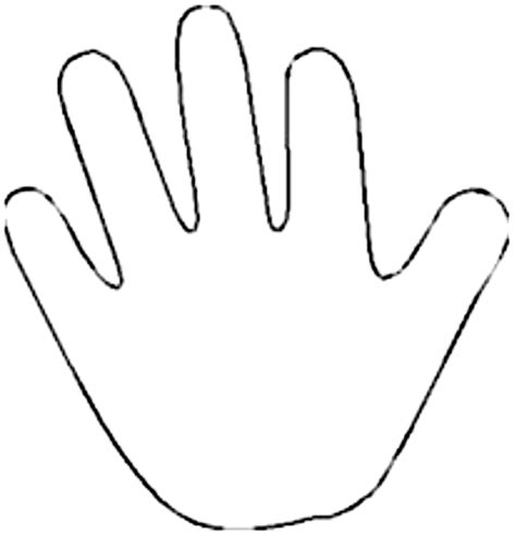 handprint coloring page group   items