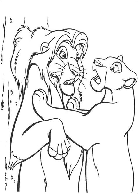 Colorare Il re leone, disegno immagini il re leone