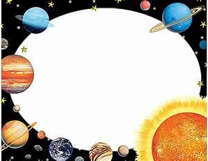 Solar system clipart border
