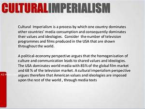 Globalisation and Cultural Imperialism Media Studies