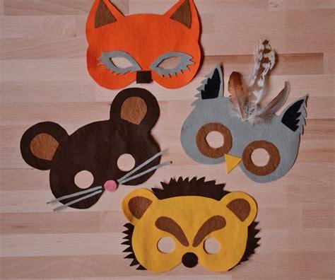 einfache tiermasken basteln tiermasken   fasching