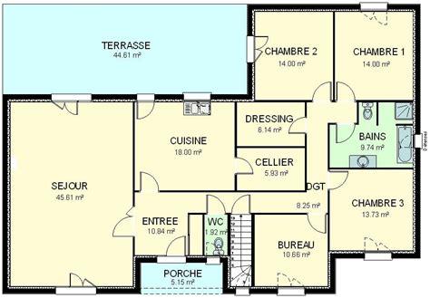plan maison 5 chambres plain pied gratuit plan de maison plain pied gratuit plan maison plain pied