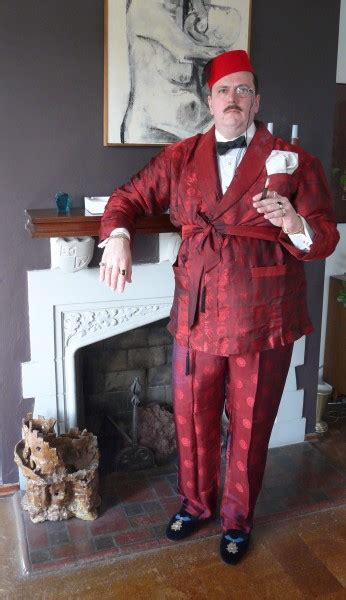 red silk lounging ensemble frederick edward gutzvillier