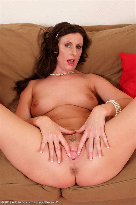 Redhead Milf Lara Latex Display Her Sexy Curves Milf Fox