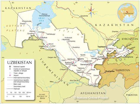 political map  uzbekistan nations  project