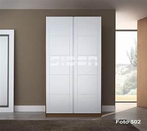Armarios SIDON Frente de armario puertas abatibles lacadas en blanco TV5