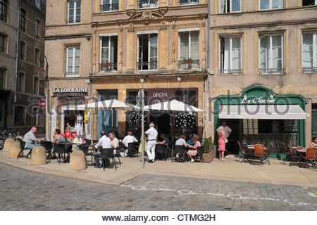 restaurants place de chambre metz outdoor tables for and dining at cafes and bars