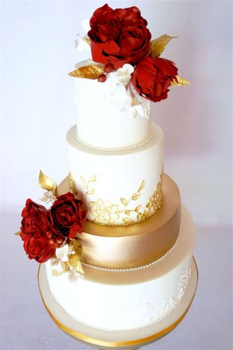 white and gold cake flower topped gold and white wedding cake white 1294