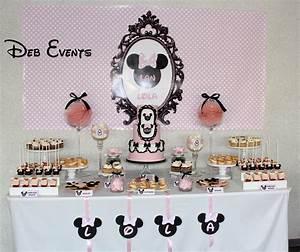 Theme Anniversaire Fille : decoration anniversaire fille 1 an minnie ~ Melissatoandfro.com Idées de Décoration